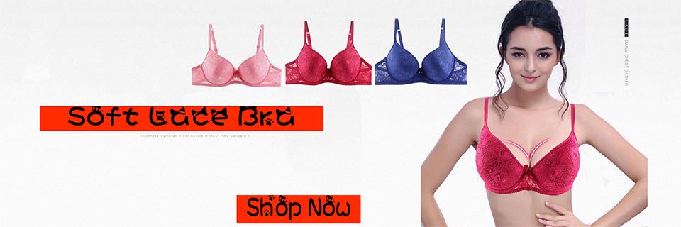 8ebfa640ea Dropwow Xiushiren Women Bra with Sexy Lace Push Up Bras for Ladies ...