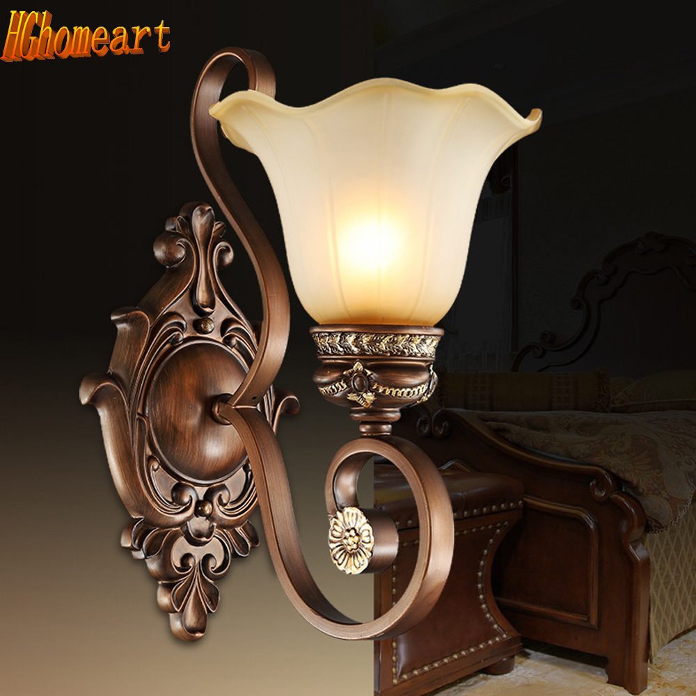 Nordic Iron Vintage Wall Lamp Led E27 110V-220V Wall Mounted Bedside Reading Lamps Wall Sconce Lights Led Mirror Light Lamp hghomeart sconce wall lights led e27 pink bedside lamp kids room wall lamp for the bedroom wall mounted bedside reading lamps