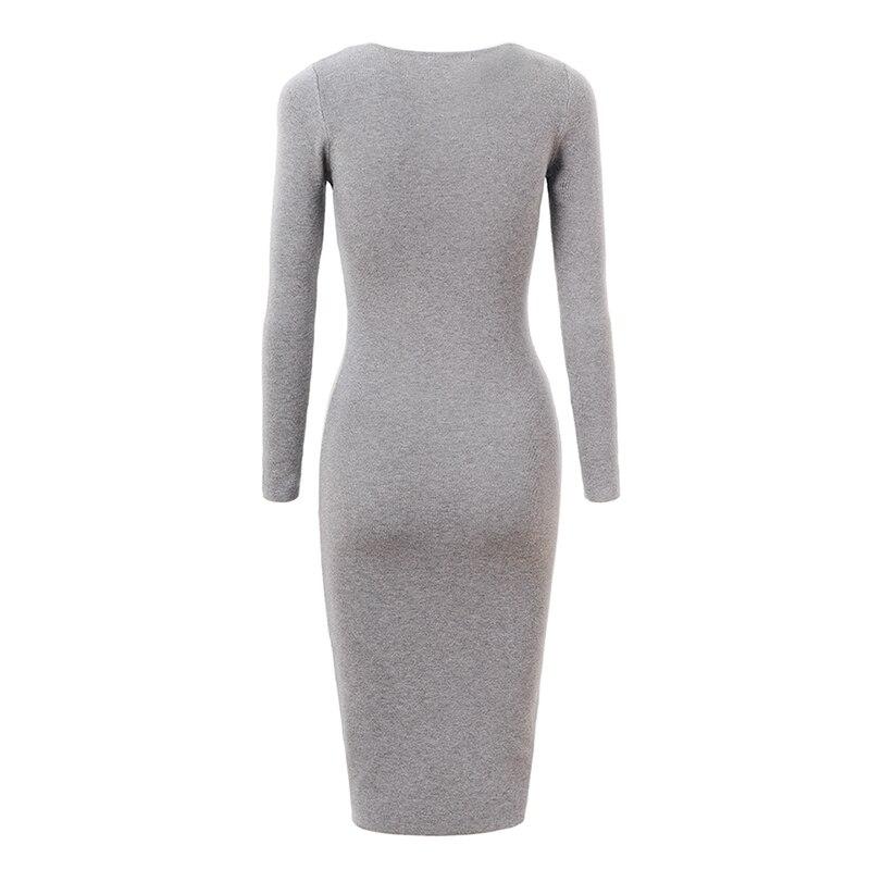 Women Sweater Dress Long Sleeve Elegant Bodycon Fashion Winter Autumn GLO-STORY
