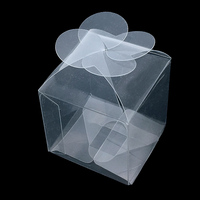 50 Pieces/lot Clear PVC Petal Gift Boxes Favor Candy Packing Souvenir Box Transparent Chocolate Bags Wedding Party Supply