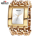 Weiqin люксовый бренд золота женщин браслет часы леди водонепроницаемый мода браслет платье часы женщина часы час Relogio Feminino