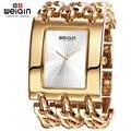 Weiqin marca de luxo de ouro das mulheres pulseira relógios Lady moda pulseira relógio vestido da mulher da à prova d ' água relógio Hour Relogio Feminino