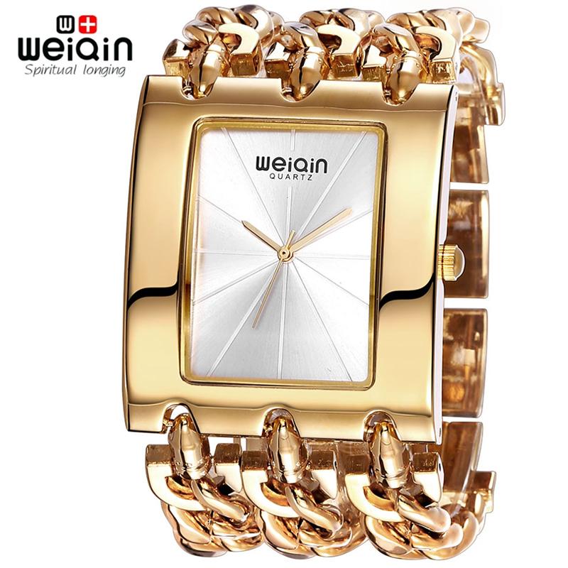 Prix pour Weiqin marque de luxe or femmes Bracelet montres dame mode étanche Bracelet robe montre femme horloge heure Relogio Feminino