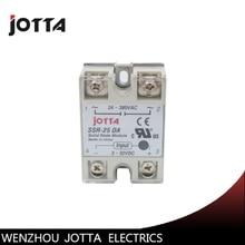 цена на SSR -25DA DC control AC SSR white shell Single phase Solid state relay