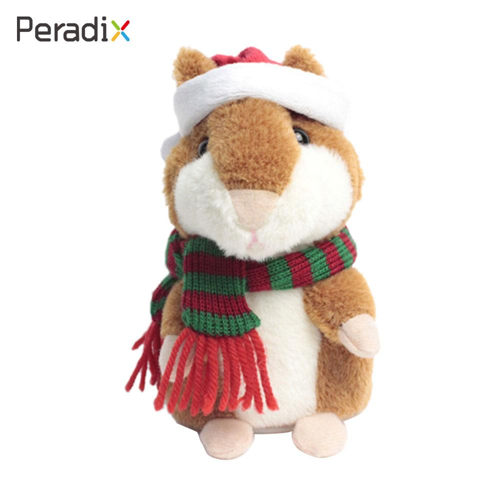 Dropshipping Promotion 18cm Lovely Talking Hamster Speak Talk Sound Record Repeat Plush Animal Kawaii Hamster Electric Toys
