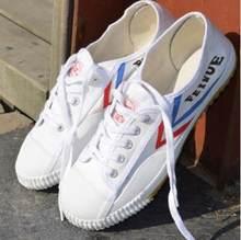 72459c89 Белый Кунг Фу Feiyue обувь боевых искусств Тай Чи тхэквондо ушу обувь для  карате спортивные кроссовки