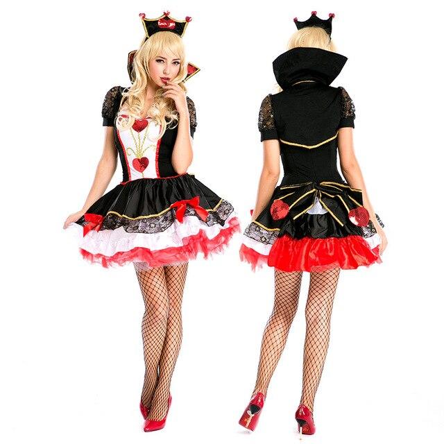 christmas halloween cos costume queen of hearts dress uniforms christmas dresses queen dress up costumes - Christmas Dress Up