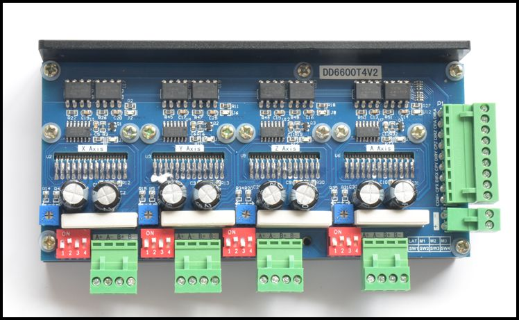 New Design 4 Axis 2 Phase Stepper Motor Driver 4A16 Subdivision TB6600 DD6600T4V2 tb6600 tb6600hg zip25 50v 5a 16 subdivision stepper motor driver 10pcs free shipping
