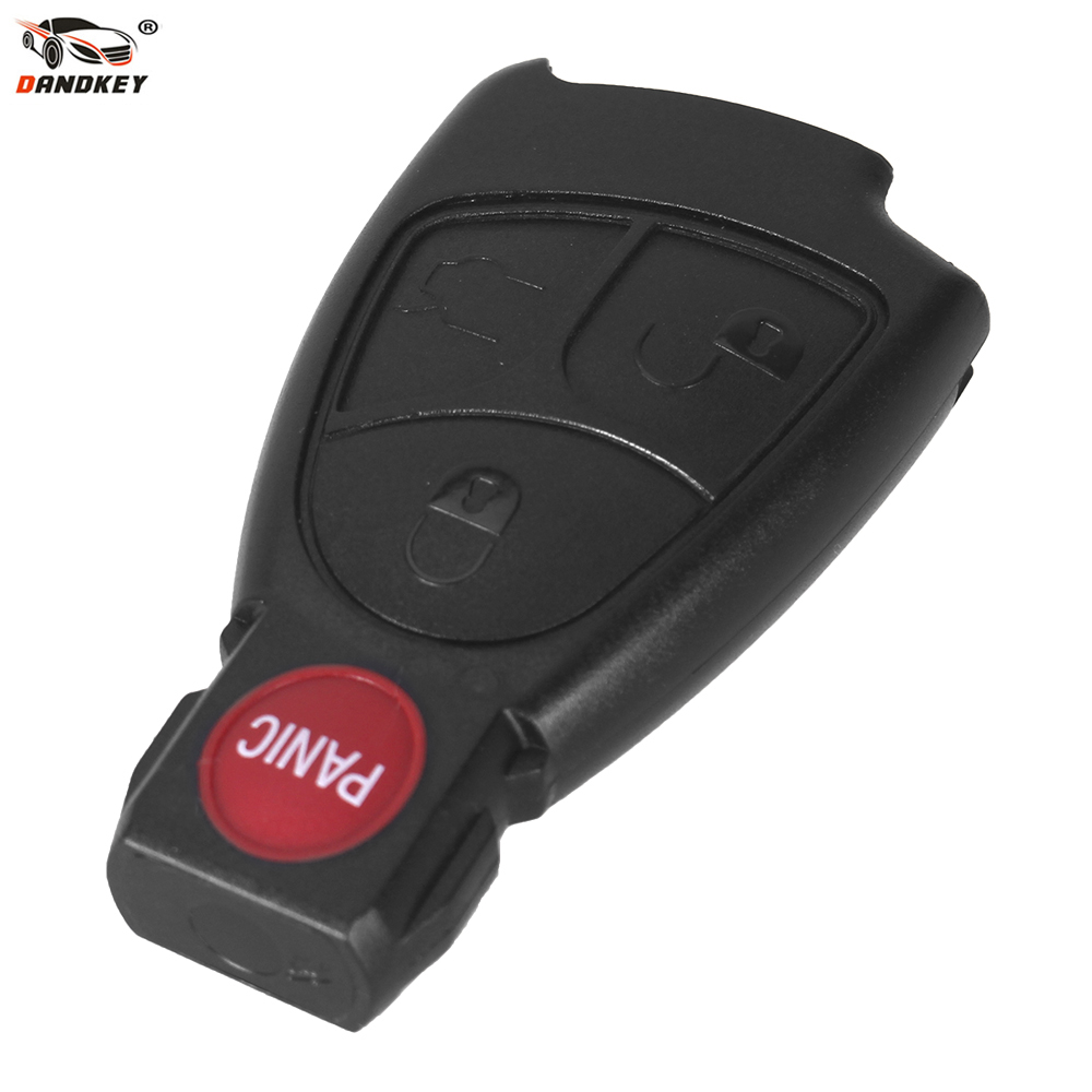 DANDKEY 3+1 Panic Buttons 4 Buttons Smart <font><b>Key</b></font> Case For <font><b>Mercedes</b></font> Benz A B C E S GML CL CLS CLA CLK <font><b>W203</b></font> W204 W211 image