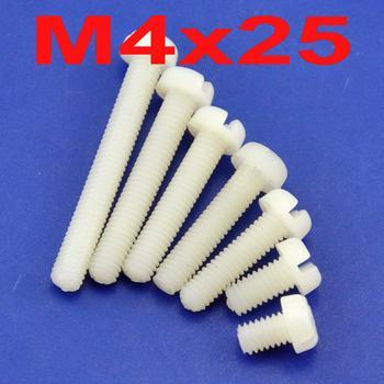 ( 1000 pcs/lot ) Metric M4 x 25mm Nylon Phillips/Slot Pan-Header Screw.