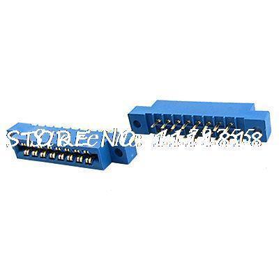 5 Pcs 3.96mm Pitch 16 Pins Card Edge Connectors PCB Slot Solder Socket