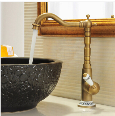 High Quality new arrival vintage antique brass sink faucet for kitchen & bathroom Kitchen faucet with ceramic handle high quality new arrival vintage antique brass sink faucet for kitchen