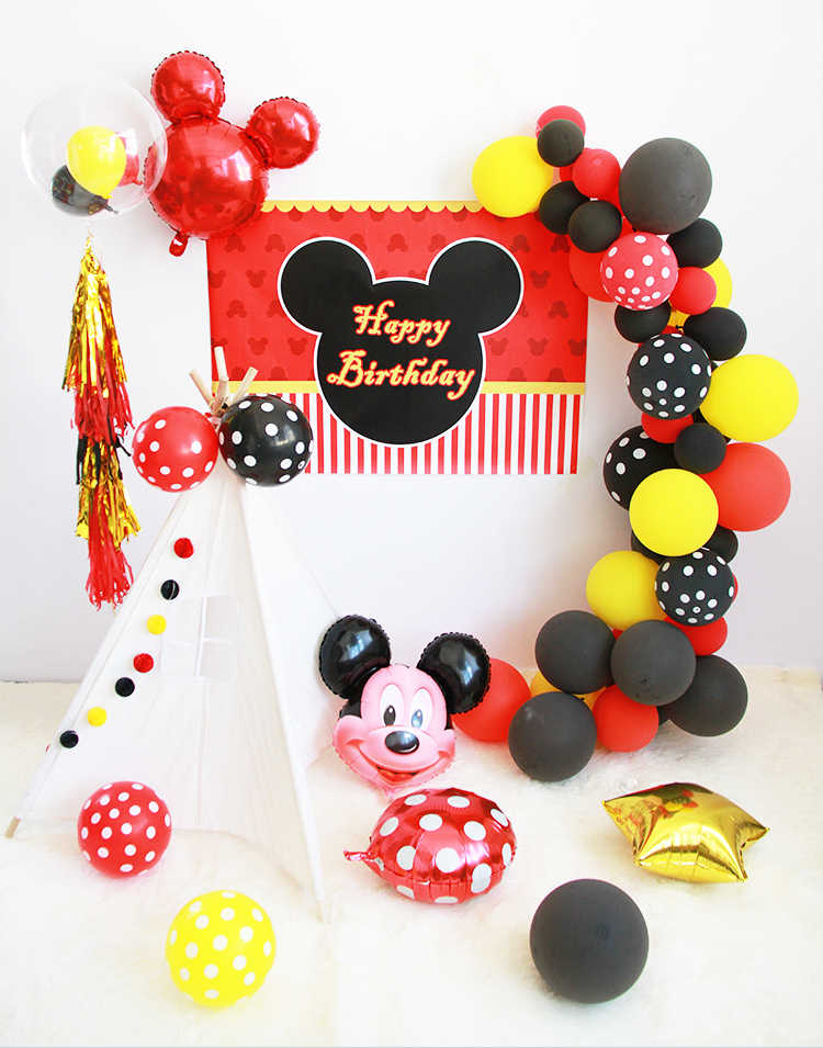 Cartoon Mickey Mouse Party Decorations Kids Happy Birthday Party Decoration Baby Shower Party Supplies for Kids Party set
