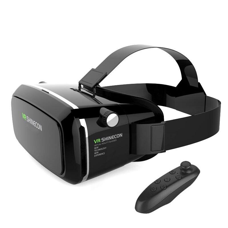 Anskp VR Virtual Reality Glasses Headset 3D Glasses Headset Helmets Smart Phones Glasses Full Package+Game Bluetooth Handle