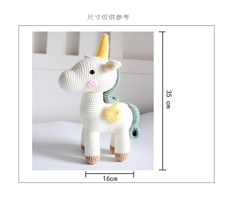 foto crochê tricô brinquedo bonito pequeno unicórnio