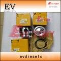 Ajuste para motor caterpillar ovethaul C4.2 pistão + anel + junta + kit de rolamento do motor