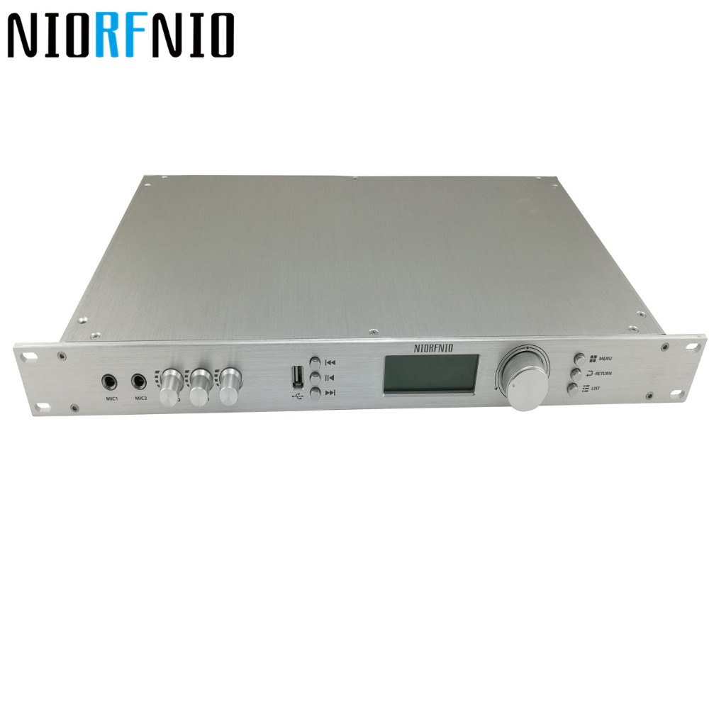 Manufacturer Free Shipping 110V to 220V <font><b>50W</b></font> Powerful NIO-T50M <font><b>FM</b></font> PLL <font><b>Transmitter</b></font> with 1/2 Wave Aluminum Antenna with Cable image