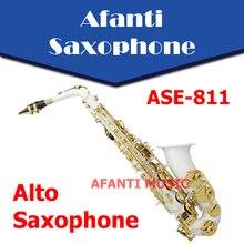 Afanti Music Eb tone /  Nickel Plated Eb Alto Saxophone (ASE-811)