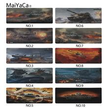 MaiYaCa Laptop Mouse Pad Drop shipping The World of Tanks Style Design Large Gaming PC Anti-slip Mat Size 400x900x2mm