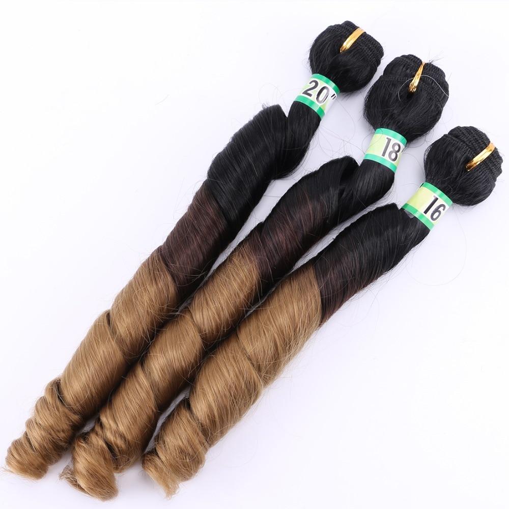 conjunto marrom para extensões de cabelo dourado tecer cabelo sintético