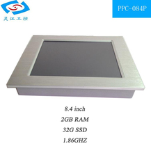 Fanless all in one touch screenPC resistive embedded panel pc 32G SSD 2G RAM touch screen pos