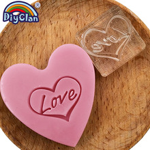 Love Handmade Resin Soap Stamp Heart Pattern Clear Diy Natural Organic Glass Chapter Acrylic Making Seal Custom3Z0297L