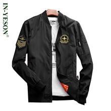 Spring Autumn Men's Windbreaker Trench Coat Army Air Force Flight Pilot Jacket Men Embroidery Epaulet Solid Brand Militar Jacket