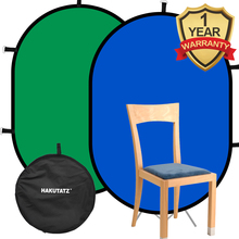 1*1.5M 2 in 1 Photo Collapsible Reversible Chromakey Background Backdrop Panel/Green Blue Light Reflector For Youtube Studio