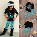 2PCS Toddler Kids Baby Girls Outfits T-shirt Tops Long Pants Clothes Set Cute Girls Long Sleeve Clothes