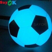 Большой надувной воздушный шар для игры в футбол, светящийся светодиодный шар для игры в футбол, забавная спортивная игрушка из ПВХ