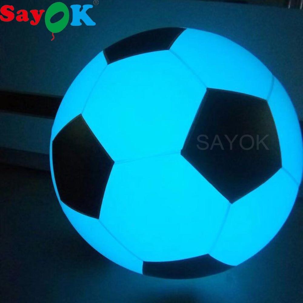 Grote Opblaasbare Voetbal Gooien Ballon Licht Aanraken Kleur Veranderende LED Gloeiende Voetbal Zygote Bal PVC Grappige Sport Speelgoed-in Ballonnen & Accessoires van Huis & Tuin op  Groep 1