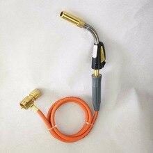 Горелка для МАПП газа газовые горелки самовоспламенение 1,5 м (5ft) шланг газа пайки горелка паяльная закалки барбекю горелки CE отопления/R руки факел
