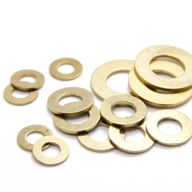 100Pcs M3 M4 M5 M6 Meson Pad Copper Sheet Metal Collar Brass Flat Washer
