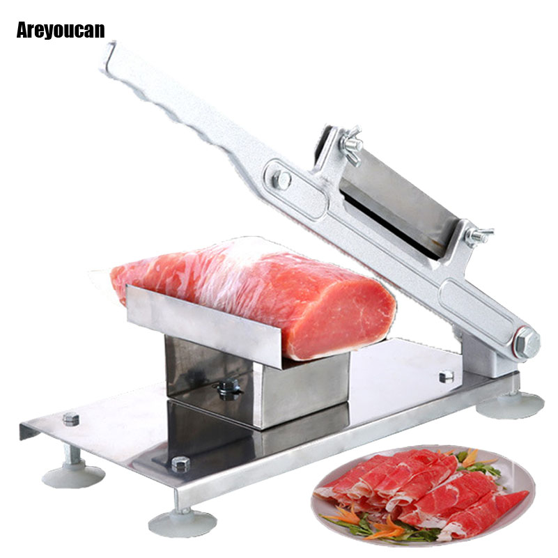 Home Stainless Steel Manual Meat Slicer Commercial Mutton Roll Cutting Machine Electric Grinder Meat Poultry Tools