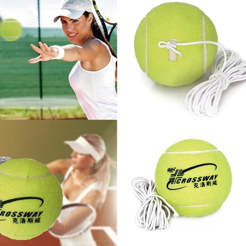 1 PC Professional Beginner Training Practice Rebound Tennis Ball With 3.8m Elastic Rope Rubber Ball Training Machine