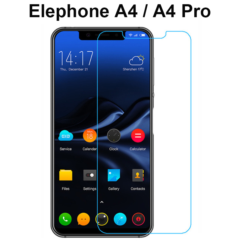 Explosion-proof Tempered Glass For Elephone A4 Film Protective Screen Protector for Elephone A4 / A4 PRO Case Cover Phone Film
