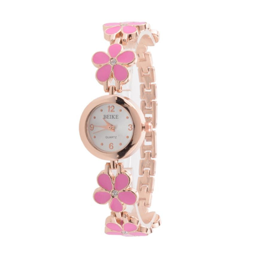 women watch gift lady girl brand luxury New Fashion Clocks 1PC Fashion Daisies Flower Rose Gold Bracelet Wrist Watch Women Girl fashion daisies flower rose gold bracelet wrist watch women girl gift ladies wrist watch red woman luxury quartz watch hot sale
