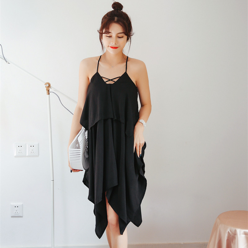 Sexy Women Chiffon Beach Dress Lady   Nightgowns   Short   Sleepshirts   Chemises Sleepwear Nightdress Spaghetti Strap Slip Dress Casca