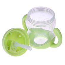1Pc New Double Handle Baby Trainer Cup