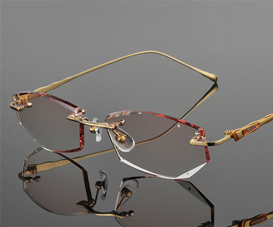 be83b18482 Gold Colors Titanium Frame Brown Gradient Lenses Optical Women Eyeglasses  EXIA OPTICAL KD 43 Series-in Eyewear Frames from Apparel Accessories on ...