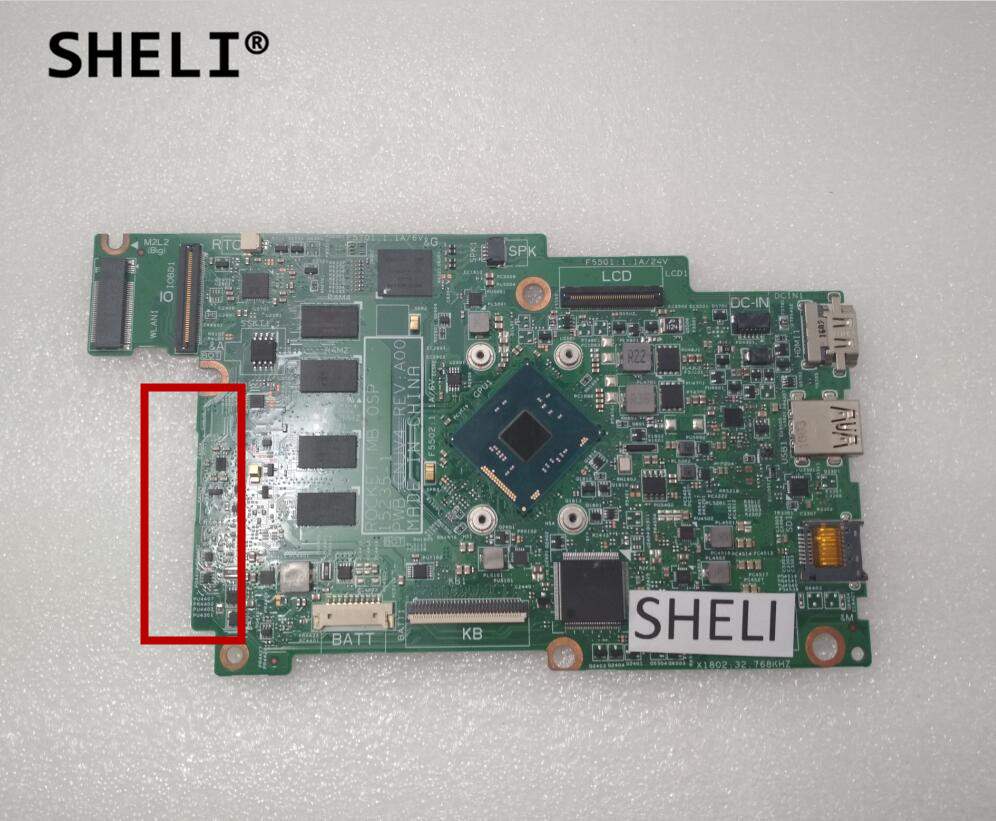 SHELI For Dell 11 3162 Motherboard with N3050 CPU CN-02YV73 02YV73 2YV73 sheli for dell 1645 motherboard with hd 4670 1gb da0rm5mb8e0 cn 0y507r 0y507r y507r