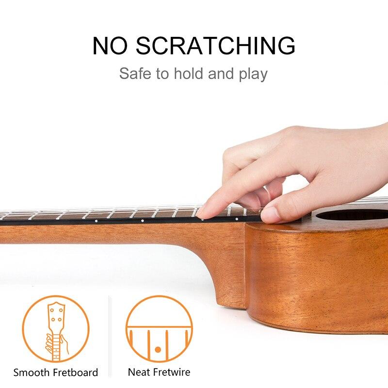 Kmise ukulélé Ukelele Kit Soprano Concert ténor acajou Uke 21 23 26 30 4 cordes guitare avec Gig Bag accordeur sangle pour débutants - 6