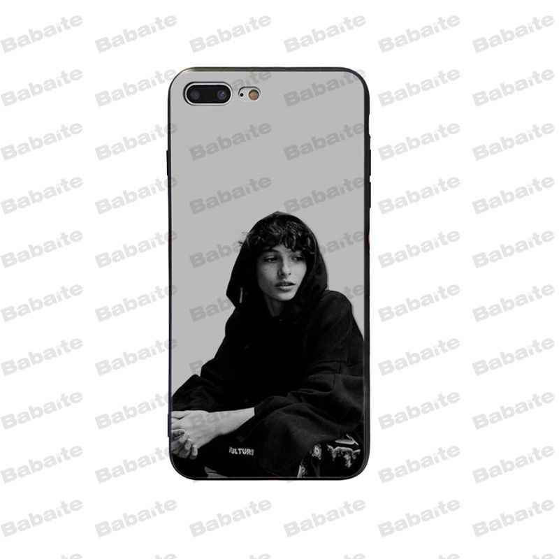 Babaite Finn Wolfhard Stranger DIY Printing Phone Case Cover for iPhone 5 5S SE 6 6S Plus 7 8 XR X XS MAX Coque Shell