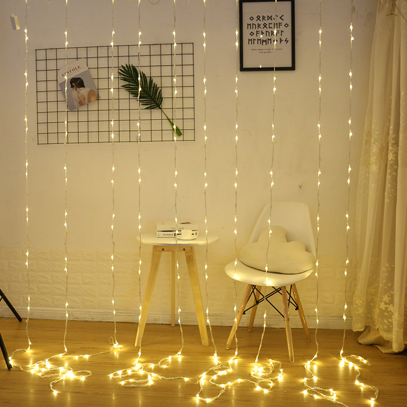 3X2/3X3M LED Iciclel Curtain Light String Waterfall Meteor Shower Christmas Wedding Fairy Lights Decoration Holiday Atmosphere