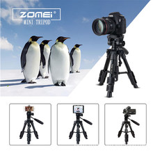 Zomei Q100 Travel Camera Tribod Mini Lightweight Portable Table Compact Tripod Professional for DSLR Mobile Phone Smartphones(China)