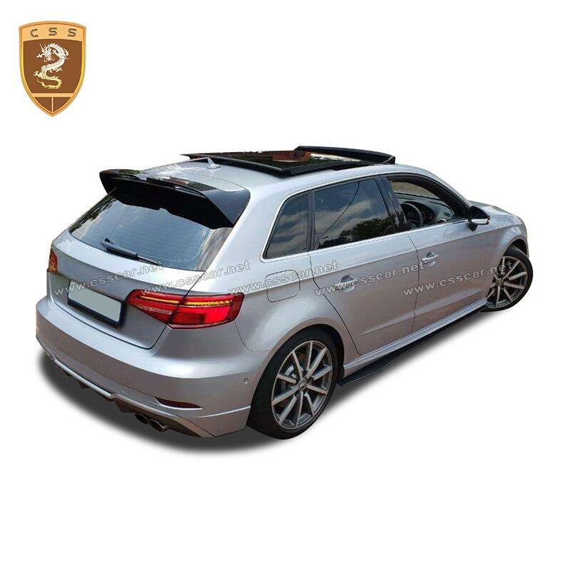 Углеродного волокна задний спойлер на крыше козырек окна для A3 Sline S3 RS3 Тип 8 V Хэтчбек 4 двери 14 18 не для 2 двери