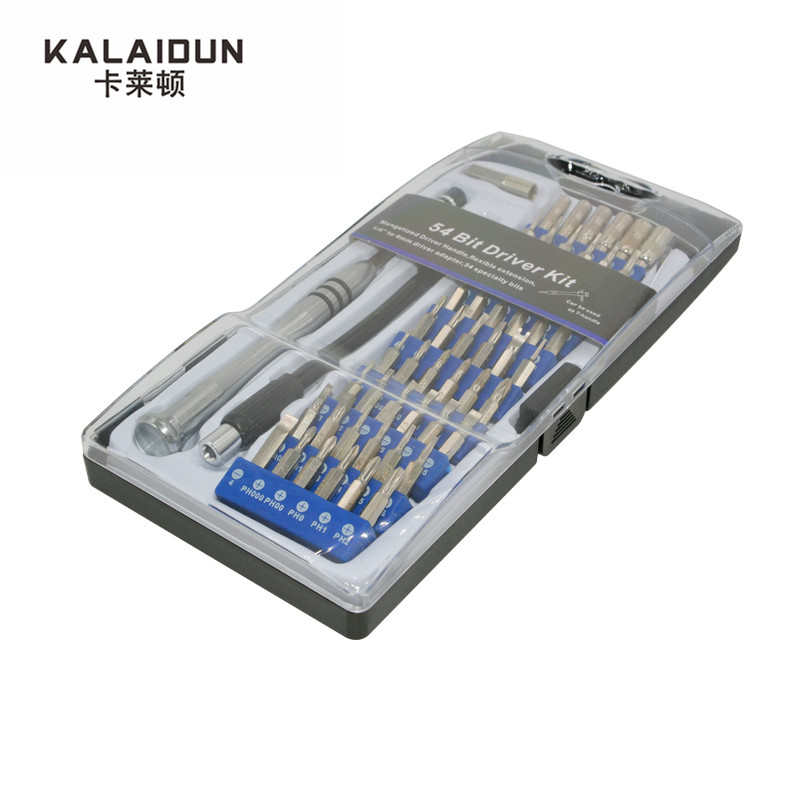 KALAIDUN di Alta Qualità 54 Bit Driver Kit 57 In 1 di Precisione torx Set di Cacciaviti Strumento di Riparazione Utensili A Mano per il Telefono 4 s/5 s iPad Pc