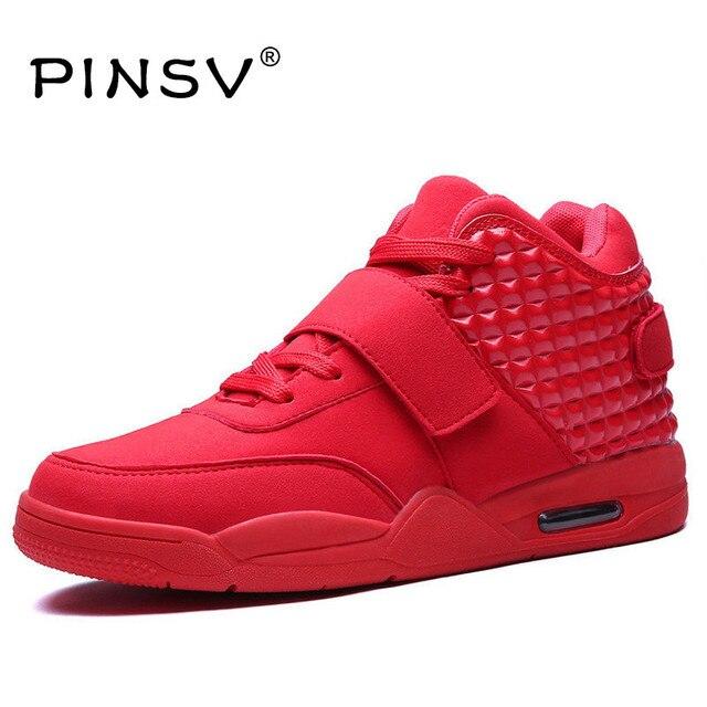 822132226 أحذية رياضية الرجال حذاء كاجوال الأحمر القيعان أحذية للرجال أحذية رياضية  عالية أعلى أحذية من الجلد