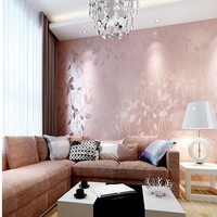 Free Shipping Modern 3D Stereo Leaf Wallpaper Living Room Kitchen Hotel Wallpaper Non Woven Fabric Bedroom
