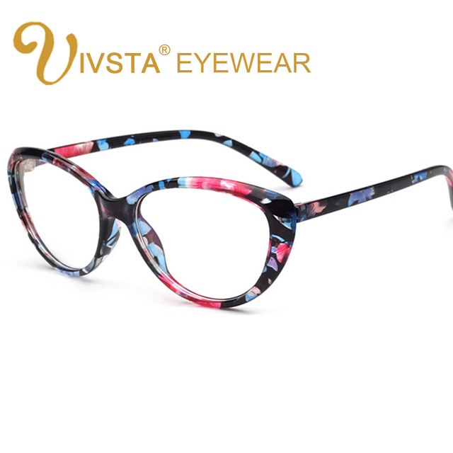 IVSTA Cat Eye Glasses Women Retro Eyeglasses Flower Optical Frame ...